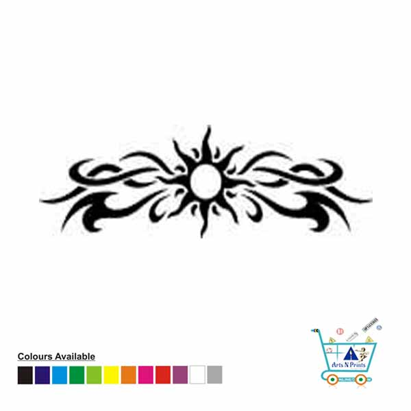 Gothic Sun Border Sticker